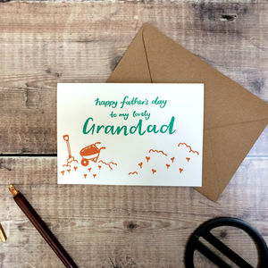 Happy Father's Day Grandad Letterpress Card - father's day cards