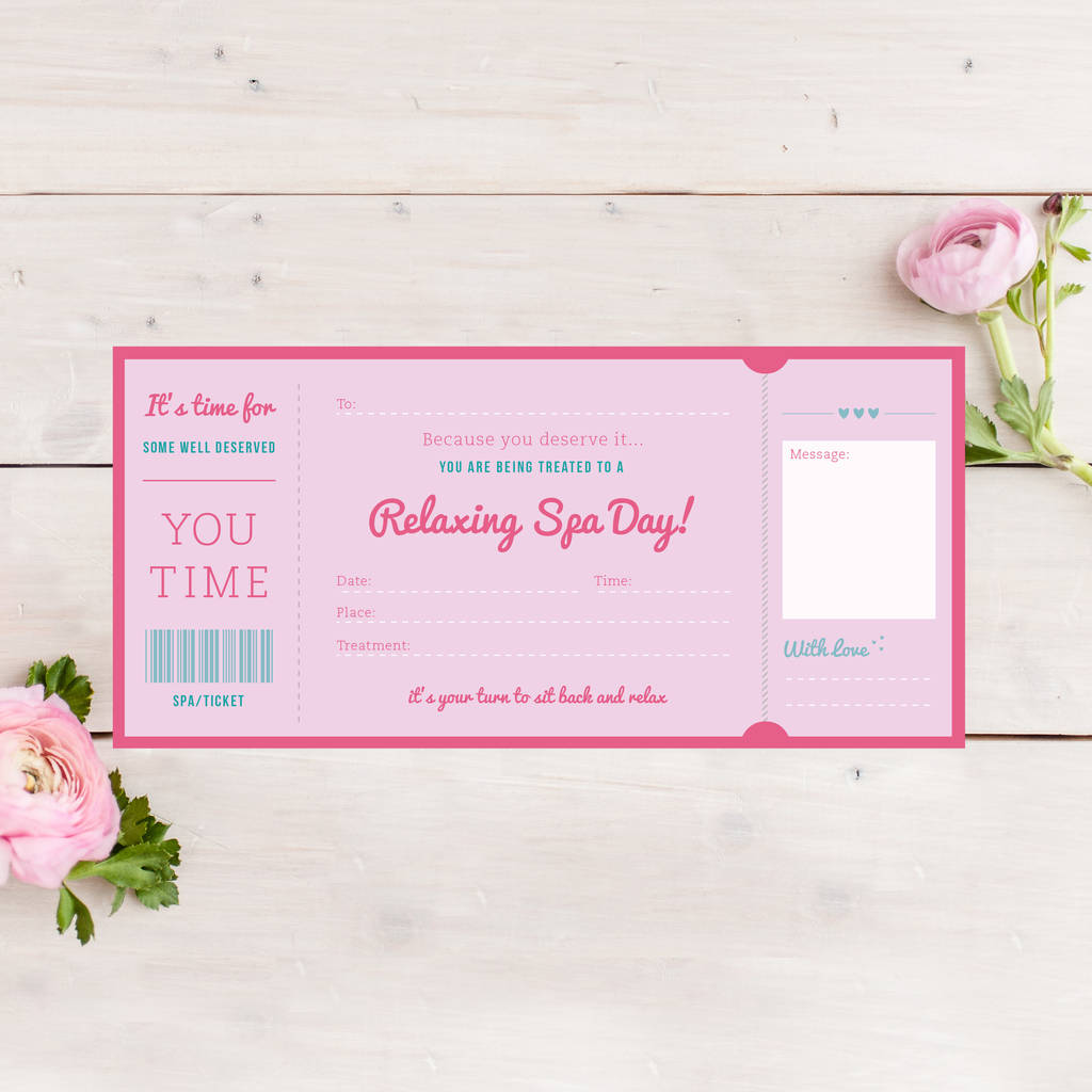 Spa Day Treatment Ticket Gift