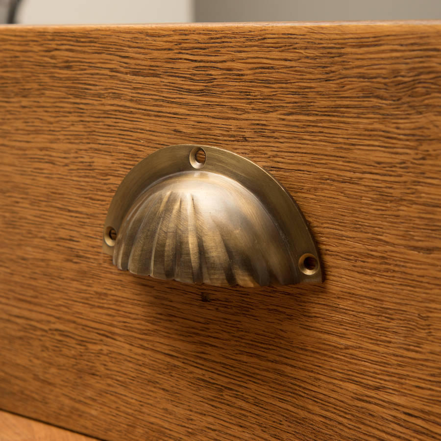 Shell Handle Antique Brass Finish