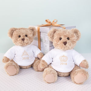 2018 Year Bear With Crown Or Tiara Embroidery - teddy bears