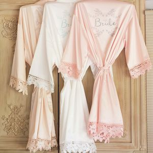 Satin And Lace Personalised Kimonos