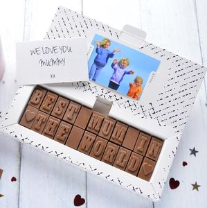 'Best Mum In The World' Chocolate Card