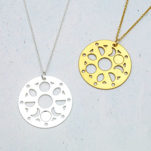 Personalised Moon Phase Coin Necklace