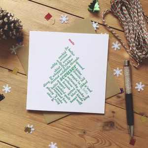 Personalised Liverpool 'Mate' Scouse Christmas Card