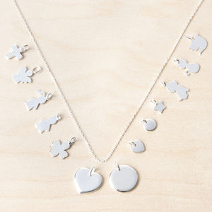 Mix And Match Silver Charm Chain Necklace