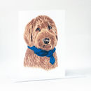 Labradoodle Greetings Card