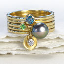 Stacking Rings – Set Of Five 18ct Gold Rings