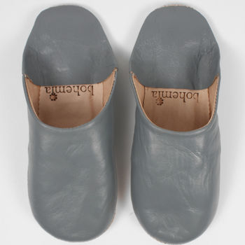 Leather Babouche Slippers, Men's Collection