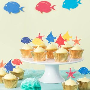 Tropical Fish Cupcake Toppers