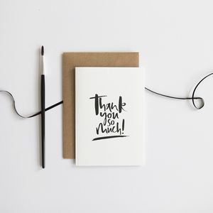 'Thank You So Much' Card - thank you cards