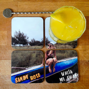Personalised Photo Jigsaw Drinks Coasters