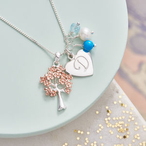 Family Tree Personalised Birthstone Necklace - necklaces & pendants