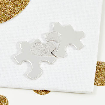Silver Mother And Daughter Jigsaw Keepsake