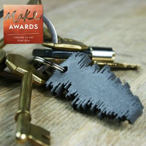 Favourite Song Sound Wave Keyring - love tokens