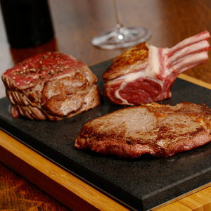 The Sharing Steak Plate For Hot Stone Cooking - aspiring chef