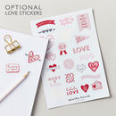 Personalised Geometric Hearts Luxe Notebook