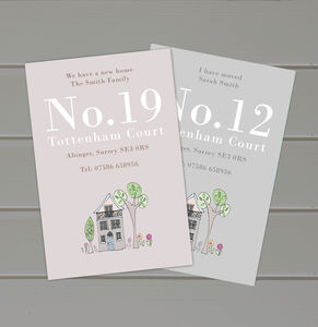 Personalised New Address Cards - new home cards