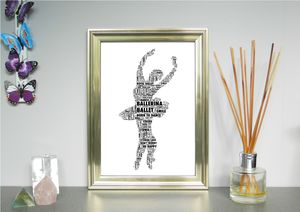 Ballerina Personalised Print - pictures & prints for children