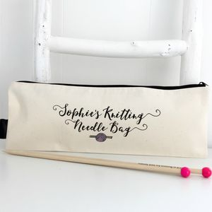 'Knitting Needle Bag' Personalised Knitting Gift