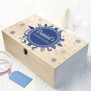 Christmas Eve Personalised Goodie Box - christmas eve boxes