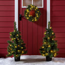 Pre Lit Mini Christmas Tree And Wreath Bundle