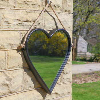 Vintage Hanging Heart Wall Mirror