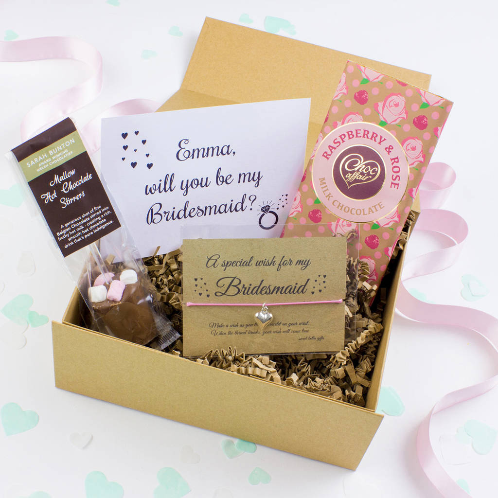 Bridesmaid Gifts: Will You Be My Bridesmaid Gift Box By Sweet Bella Gifts