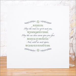 'May The Road Rise Up' Irish Blessing Print