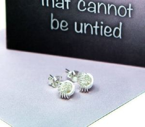 Friendship Knot Sterling Silver Small Earrings - jewellery sale