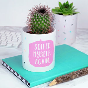 Soiled Myself Again Indoor Plant Pot - gifts for her