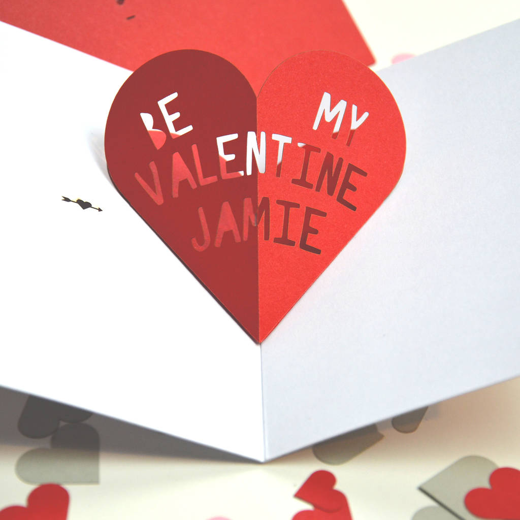 Personalised Pop Up Heart Valentines Card By The Portland Co