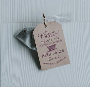 Bath Salt Favours - hen party ideas