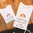 Personalised Making Memories Adult And Child T Shirts