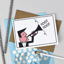 'Toot Toot' Fun Graduation Card