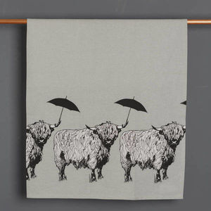 'Dougal' Scottish Highland Cow Tea Towel