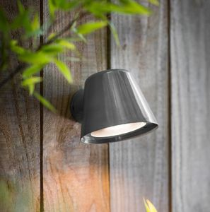 Mast Wall Light In Charcoal Grey - lights & lanterns