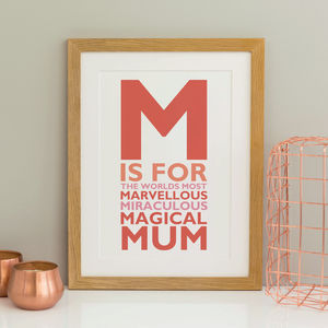 M Is For Mother Print