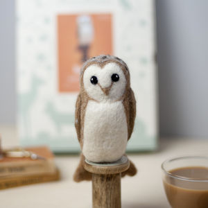 Barn Owl Needle Felting Craft Kit - sewing & knitting