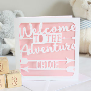 Personalised New Baby Adventure Card - new baby cards