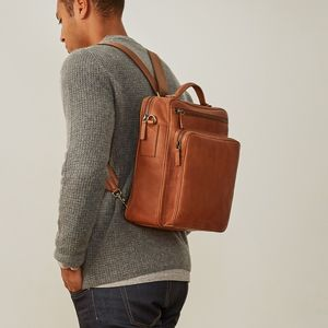 Luxury Personalised Mens Leather Rucksack 'Santino L'