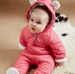 Berry Red Little Grow Bearsuit - gifts for babies