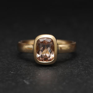 Morganite Gold Engagement Ring - rings