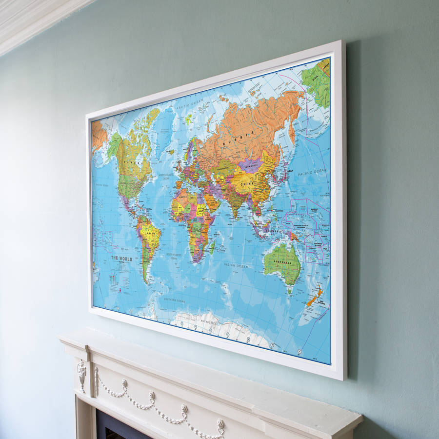 World map print by maps international notonthehighstreet world map print gumiabroncs Gallery
