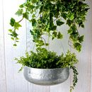 Large Zinc Hanging Planter