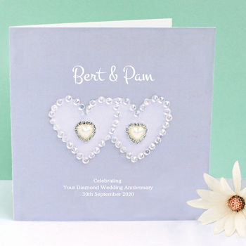 Personalised Hearts Anniversary Card