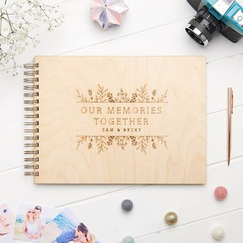 Personalised Floral Memory Book