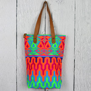 Aztec Print Beach Bag