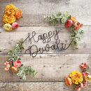 Happy Diwali Floral Wire Sign