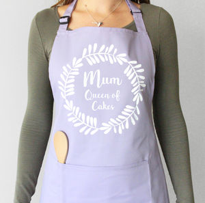 Personalised Wreath Apron - baking