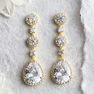 Ayria Crystal Statement Earrings - earrings
